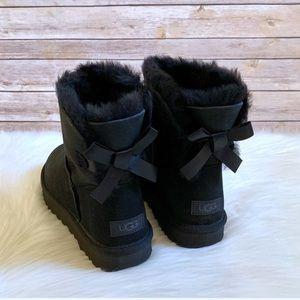 UGG Black Mini Bailey Bow II Boots
